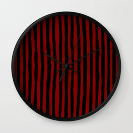 Black and Red Stripes Wall Clock