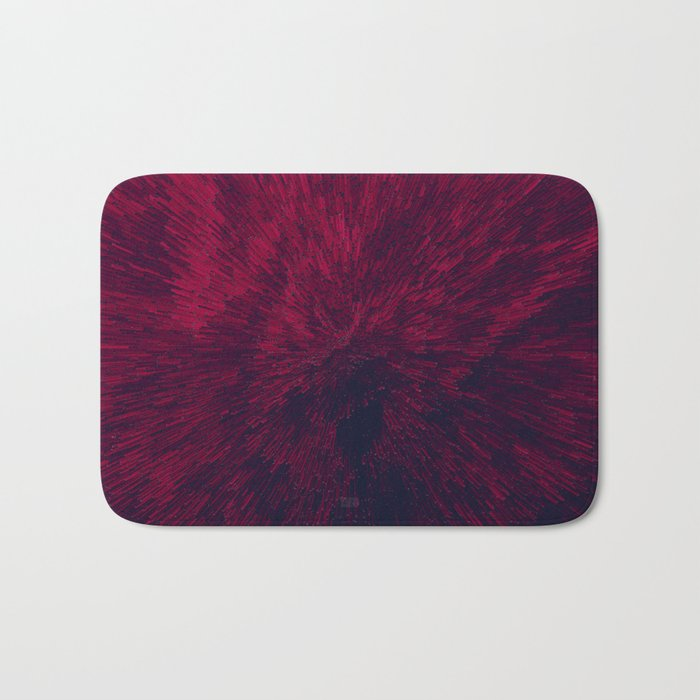 Bold Burst in Red Bath Mat