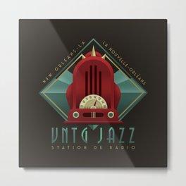 Vintage Jazz Radio Station Metal Print