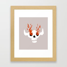 I see fire Framed Art Print