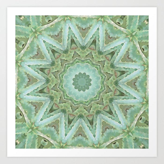 Kaleidoscope of Cacti Art Print