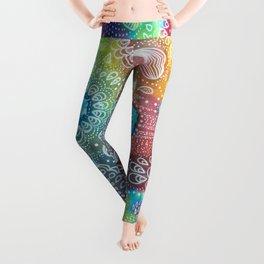 Water colors 1 - Rainbow corals Leggings