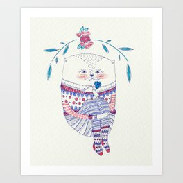 wish cat Art Print