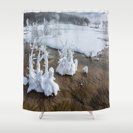 Winter in Yellowstone Shower Curtain