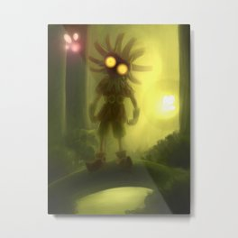 Skull kid in forest Metal Print