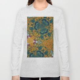Orange and Green Flora Long Sleeve T-shirt