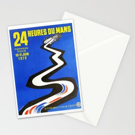 1972 Le Mans poster, car poster, race poster, t-shirt Stationery Cards