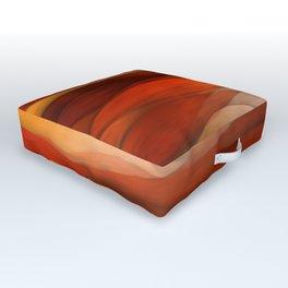 """Sea of sand and caramel waves"" Outdoor Floor Cushion"