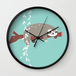 Sloth card - just 5 more minutes Wall Clock