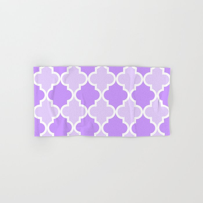 Quatrefoil - light purple dual tone Hand & Bath Towel