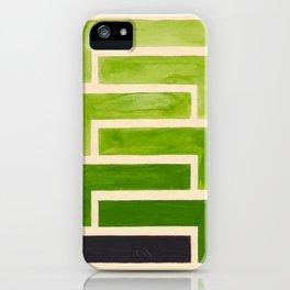 Sap Green Geometric Watercolor Painting iPhone Case