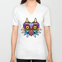 majoras mask V-neck T-shirts featuring Majoras Mask /Pixel /zelda by tshirtsz