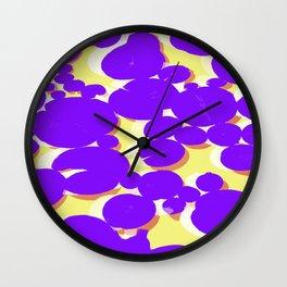 Lotus Pond Ultra Violet Lemonade Wall Clock