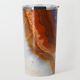 Rusty Amethyst Agate Travel Mug