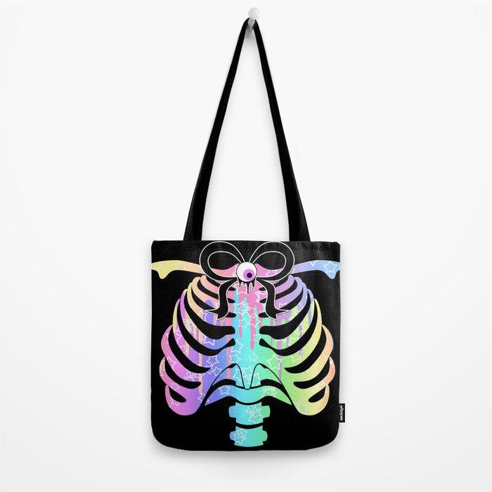 Pastel Rainbow Ribcage Alternate Tote Bag