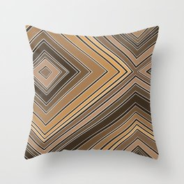 Skintone - Stripes - Illusion Throw Pillow