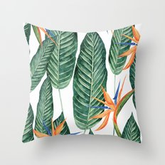 Banana And Flowers #society6 Throw Pillow