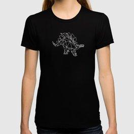 Stegosaurus Geometric Low poly Dinosaur T-shirt