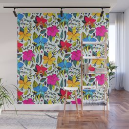 Tropical Floral Wall Mural