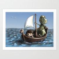 voyage Art Prints featuring Voyage by Allan McInnes