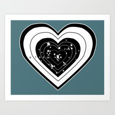 Don't use my heart for Target Practice Art Print