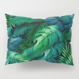 Tropical Leaves Pillow Sham