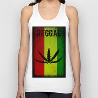 reggae Tank Tops featuring REGGAE by shannon's art space