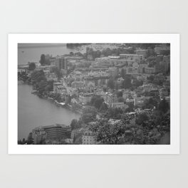 City Outlook--Black and White Art Print