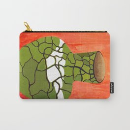 Green Vase with Red Background Carry-All Pouch