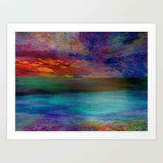 Ocean at Sunset Art Print