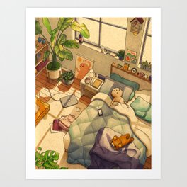 Afternoon Nap Art Print