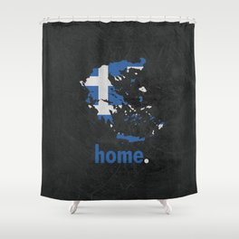 Greece Proud Shower Curtain