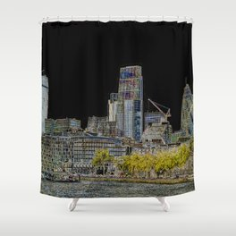 the Glow of London Shower Curtain