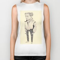 ryan gosling Biker Tanks featuring Ryan Gosling by withapencilinhand