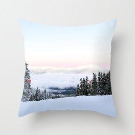 Ski area boundaries Throw Pillow