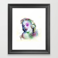 Marilyn under brushes effects Framed Art Print