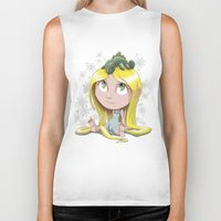 rapunzel Biker Tanks featuring Rapunzel by EY Cartoons