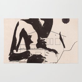 Supersexy - Ink drawing portraiture Rug