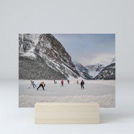 Shinny at Lake Louise Mini Art Print