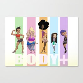Body Positive Canvas Print