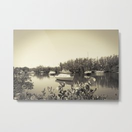 The bay and boats Metal Print