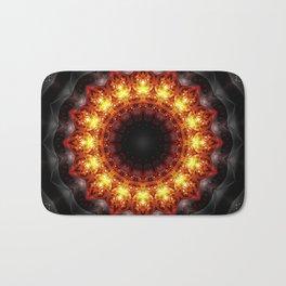 Mandala burning heat Bath Mat