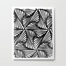 Paradox Triangle Repeat Pattern Metal Print