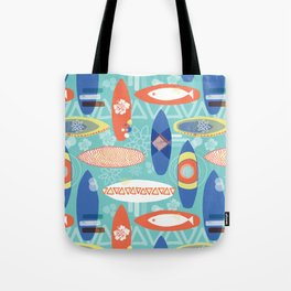 Vintage Surfboards Pattern Tote Bag