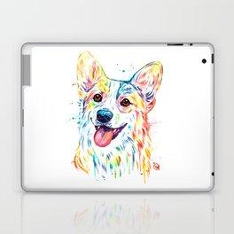 Corgi Colorful Watercolor Pet Portrait Painting Laptop & iPad Skin