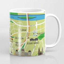 Prague map illustrated Coffee Mug