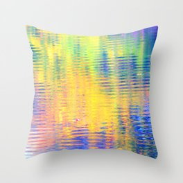 Sunny day by the river Throw Pillow