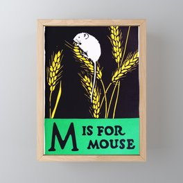 M is for mouse Framed Mini Art Print