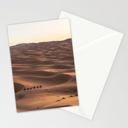 SIX PERSONS RIDING CAMELS ON DESERT Stationery Cards