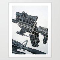 gun Art Prints featuring Gun by Fahrudin
